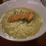 鳥料理 有明 - 【2012年葉月(8月)】軍鶏水炊きラーメン。バージョンアップしていました。