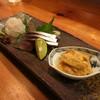 釉月 - 料理写真:お刺身 (手前から、雲丹、〆鯖、白えび)