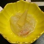 しゃぶしゃぶ にいむら - しゃぶしゃぶ にいむら 本店 @新宿 松セット 冬瓜の蟹餡かけ