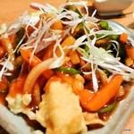 点 - キスの天ぷら甘酢がけ