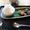 はぶたえ - 料理写真:ミニ氷抹茶あずきとミニ団子2本のセット(682円)♥