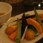 KITCHEN BAR 新目黒茶屋 - 有機野菜のバーニャカウダ 850円
