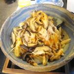利久庵 - サラダ 焼き椎茸と蟹の大根サラダ