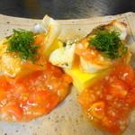 利久庵 - 鱸の若さ焼き トマトソース