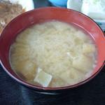味処 東 - 味噌汁