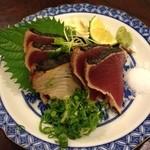 ろばた焼 仙樹 - 料理写真:鰹の塩たたき1200円なり。