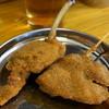 毘利軒 - 料理写真:生ビールセット(780円)の内、若鳥、豚