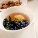 恵泉 - ランチチャーハンセットのワンタンスープ