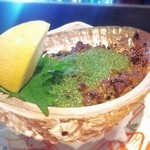 貴田乃瀬 - つぶ貝とあわびの肝まぜ焼き