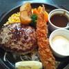 馬車道 - 料理写真:デミハンバーグと海老フライ