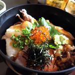 加賀屋 - 料理写真:あぶり丼のアップ