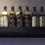 弁天庵 - 焼酎のボトルキープです