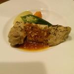 くつろぎの邸宅 ともる - もろこし豚のソテー~トマトガーリックソース
