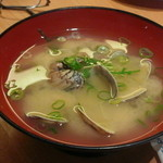 すし遊学 - アサリの味噌汁