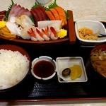 ほうせい丸 - 豊漁刺身定食1980円