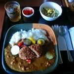 かわらや - 野菜カレー(メンチトッピング)
