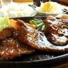 のんき - 料理写真:牛ハツステーキ定食735円