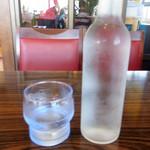 レストランポム - 冷えた水がボトルで