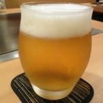 お好み焼 きじ - やっぱりビールは欠かせません