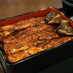 神田きくかわ - うな重「ニ」(6,600円)肝吸い、キャベジン、香の物、デザートつき
