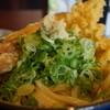丸亀製麺 - 料理写真:ぶっかけ+葱+天かす+ちく天+生姜