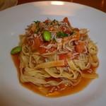 タベルナピッコ - 料理写真:じゃこと枝豆のトマトソースパスタ♪