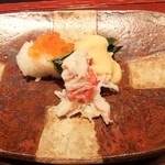日々茶寮 連 - 毛がに・いくら・一口寿司