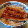のざき家 - 料理写真:ランチのうな丼(半身1,100円)サラダ、香の物、肝吸いつき