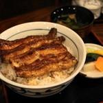 稲毛屋 - 関西風うな丼上ご飯大盛り(2,650円)肝吸い、香の物つき
