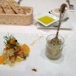 14563053 - 前菜:アマダイのエスカベーシュ 爽やかなハーブの香りのゼリーと共に