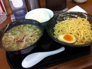 彩色ラーメンきんせい - 特製つけ麺 850円+ラーメンセット(ライス)50円