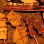 旬菜遊膳きんかぶ - 串盛合せ5種 つくね絶品コリコリナンコツ入り