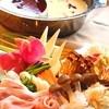ZEN ROOM - 料理写真:薬膳鍋 \2180 4種スープから2種類お選びいただけます。 「デトックス火鍋スープ」「豆乳スープの薬膳鍋」「疲労回復 烏骨鶏スープ」「季節の薬膳スープ」
