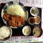 千石家 - チキンカツ単品(500円)+定食(200円)2012年8月①