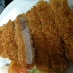 ちらん亭 - チャーミー豚のロース定食 アップ