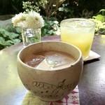 手ぬぐいカフェ 一花屋 - チャイ