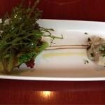 14692671 - 前菜 三元豚とサラダ