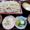 しら石 - 料理写真:もりそばとミニかつ丼のセット これで680円とはリーズナブル!