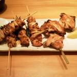 郷土料理おいどん - 焼鳥(モモ、ねぎま、手羽先各2本)
