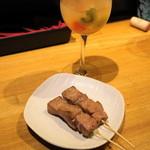 久遠の空 - レバ塩若焼き(1串150円)