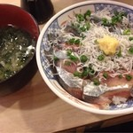 磯丸水産 - 味噌汁つけちゃった@¥ 100