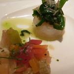14745972 - アミューズ:スズキのポワレと野菜のピクルス