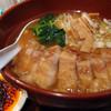 万世麺店 - 料理写真:排骨拉麺と辛増し(左下)