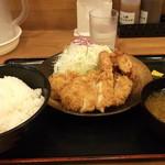 チキン亭 - Wチキンカツ定食