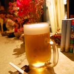 酔処 楽風 - 生ビール。