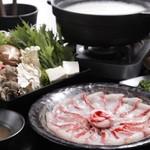 銀座 竹の庵 - 天然金目鯛豆乳しゃぶしゃぶ