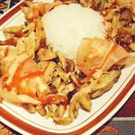 オリエント ターキッシュ - 鶏肉とお米と野菜の料理。