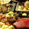むく - 料理写真:一番人気の牛サーロインの石焼ステーキと土鍋蒸しのコース!¥4500