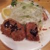 山梅 - 料理写真:なすのひき肉はさみ揚げ