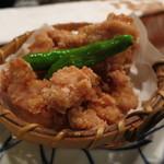 鼎 - 地鶏竜田揚のアップ